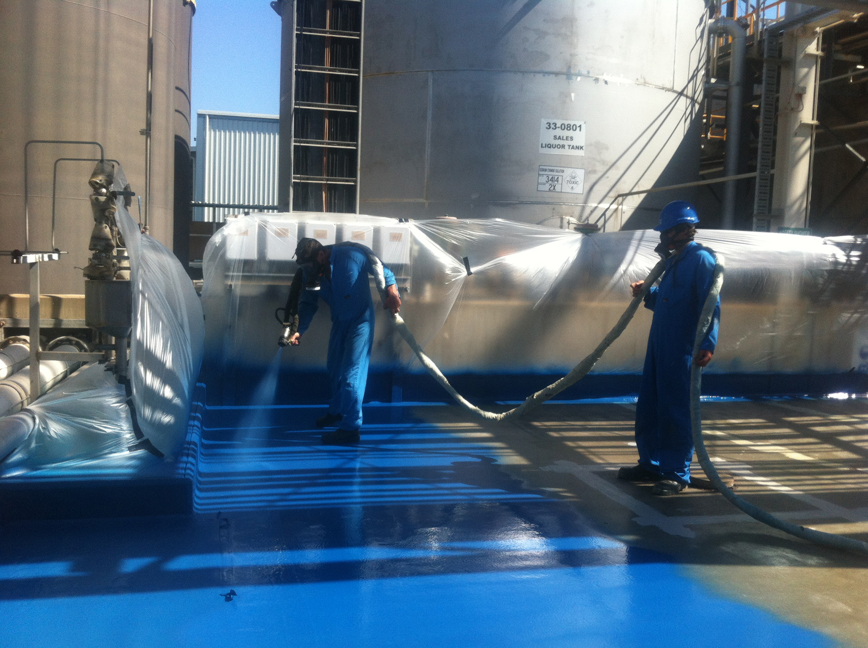 Rhino Linings help minimise water treatment plant degradation and chemical spills