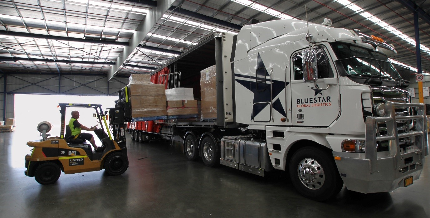 United supply forklifts and reach trucks to Bluestar Global Logistics